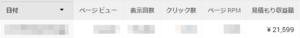 アドセンス、日収2万円