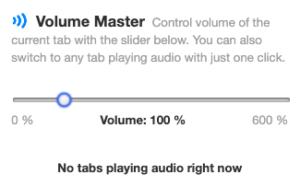Google Chrome、拡張機能、Volume Master、インストール方法